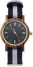 Orologio da polso in legno a righe