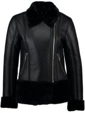 Miss Selfridge SHEARLING BIKER  Giacca in similpelle black