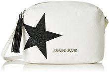Armani Jeans9221877p760 - Borsa baguette Donna , bianco (Bianco (Bianco 00010)), 9x16x22 cm (B x H x T)