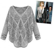 Pullover a maglia con ampio scollo a V
