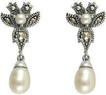 Esse Marcasite - Anello in argento Sterling, con orecchini a goccia in stile vittoriano