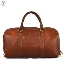 Borsa da viaggio Dream Leather Bags Made In Italy  Borsa Viaggio In Pelle Colore Marrone - Pelletteria Toscana Made