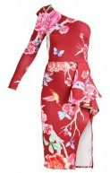 True Violet Vestito di maglina red bird floral