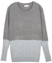 Pullover a maglia con parte a treccia
