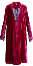 Free People DHALIA VELVET DUSTER Cappotto classico pink