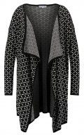 Anna Field Curvy Cardigan black/winterwhite