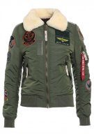 Alpha Industries INJECTOR PATCH Giubbotto Bomber sage green