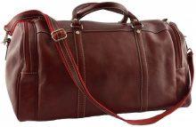 Valigia morbida Dream Leather Bags Made In Italy  Borsa Viaggio In Pelle Colore Rosso - Pelletteria Toscana Made I