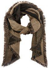 PIECES Pcjelva Long Scarf, Sciarpa Donna, Multicolore (Black), Taglia unica
