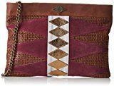 MohekannXl Navajo - Pochette Donna , marrone (Marron (Folk)), 8x25x35 cm (W x H x L)