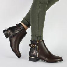 Chelsea boots con parte a scaglie
