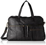 PIECES Pckimono Leather Weekend Bag - Borsette da polso Donna, Schwarz (Black), 13x34x43 cm (B x H T)
