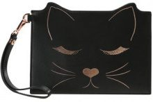 Ted Baker FELIXEADA7WLEATHER CAT POUCH Pochette black