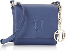 Trussardi Jeans Ischia Crossbody, Borsa a Tracolla Donna, Blu, 17x16x7 cm (W x H x L)