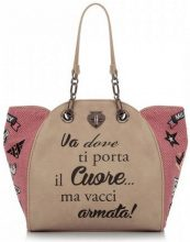 Borsa Shopping Le Pandorine  Shopping bag  Military ''Cuore''