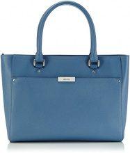 Ecco - ECCO Firenze Small Tote, Borsa a tracolla da donna, blu(blau (retro blue 90202)), 33x23x10 cm (B x H x T)