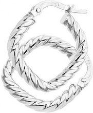 Citerna Orecchini a Cerchio da Donna, Oro Bianco, 9 Carati 375