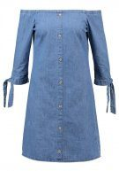 Dorothy Perkins BUTTON THROUGH BARDOT Vestito di jeans blue