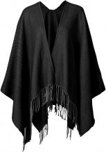 Poncho in tinta unita (Nero) - bpc bonprix collection