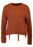 New Look THREADED LACE UP Maglione mid brown