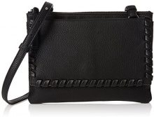 French ConnectionCallie - Borsa a tracolla donna , nero (Black (Black/Black)), Taglia unica