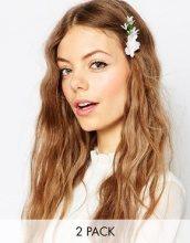 ASOS - Confezione da 2 fermagli per capelli con mazzo di fiori