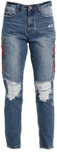 Missguided RIOT HIGH RISE FLORAL  Jeans baggy blue