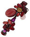 VICKISARGE Bracciale da Donna Rame Cristallo Rosso Ovale
