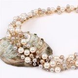 Qiyun Multi-Fila Filo Di Perle Perline Torsione Con Bretelle Collana Del Choker Del Collare Orecchini Set