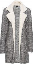 Giaccone in maglia con pellicciotto di pile (Nero) - BODYFLIRT
