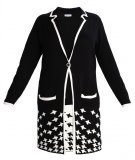 Anna Field Curvy Cardigan black/white