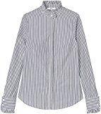 FIND Camicia a Righe con Collo Alto Donna , Nero (Black Stripe), 40 (Taglia Produttore: X-Small)