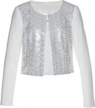Bolero con paillettes (Bianco) - bpc selection