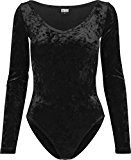 Urban Classics Ladies Velvet, Body Donna, Nero (Black 7), 52