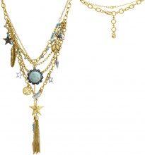 Collane Fashionvictime  Collana Donna  - Gioiello Metallo Oro - Turchese
