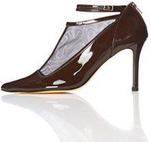FIND Scarpe con Cinturino alla Caviglia Donna, Marrone (Brown), 38 EU