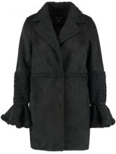 Lost Ink SHEARLING Cappotto corto black