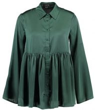 Lost Ink SMOCK SATIN SHIRT Camicia green