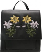 Missguided FLORAL EMBROIDERED CLEAN  Zaino black