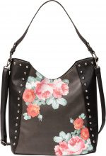 Borsa shopper a fiori (Nero) - bpc bonprix collection