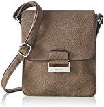 GERRY WEBERTalk Different II Flap Bag V, M - Borsa a tracolla Donna , Marrone (Braun (taupe 104)), 19x22x8 cm (B x H x T)