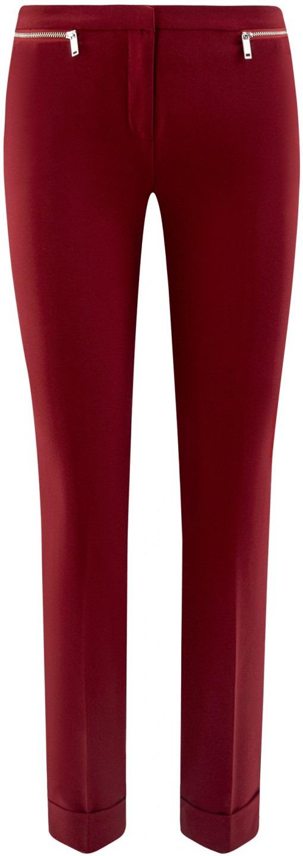 oodji Ultra Donna Pantaloni Aderenti con Zip Decorative