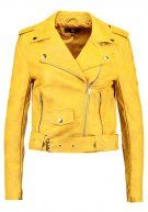 Missguided ULTIMATE BIKER Giacca in similpelle mustard