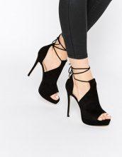 ALDO - Tilley - Sandali neri alla caviglia stringati con tacco