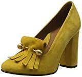 SELECTED FEMME Sfmel Suede Pump W. Fringes, Scarpe con Plateau Donna, Giallo (Mineral Yellow), 38 EU