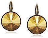 Konplott 5450543316666 Rivoli, orecchini pendenti da donna, in ottone e vetro giallo