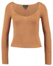 Topshop SWEETHEART NECK  Maglione camel