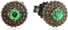 Cai Women–Orecchini da donna in argento Sterling 925rodiato con zirconi verde C1434E/90/72