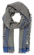 ONLY ONLSYDNEY WEAVED CHECK SCARF Sciarpa surf the web/black/cloud dancer