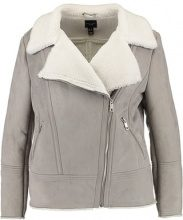New Look Curves VALLEY SHEARLING Giacca in similpelle grey